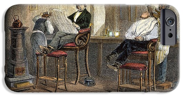 1850s iPhone Cases - RICHMOND BARBERSHOP, 1850s iPhone Case by Granger