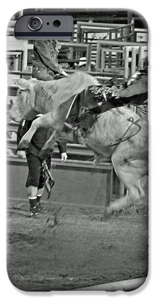 Ride 'Em Cowboy iPhone Case by Shawn Naranjo