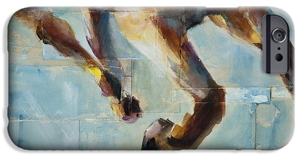 Running iPhone Cases - Ride Like You Stole It iPhone Case by Frances Marino