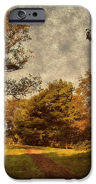 Ridge Walk - Holmdel Park iPhone Case by Angie Tirado