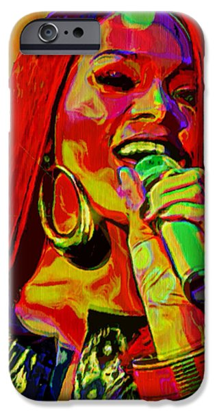 Reggae Music Art iPhone Cases - Rihanna 2 iPhone Case by  Fli Art