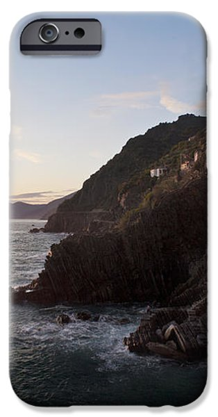 Riomaggio Sunset iPhone Case by Mike Reid