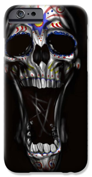 Skull iPhone Cases - R.i.p iPhone Case by Pete Tapang