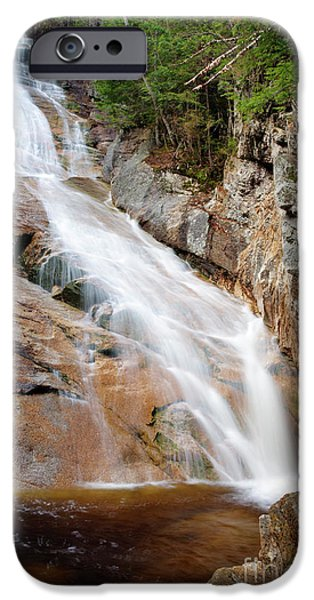 Ripley Falls - Crawford Notch State Park New Hampshire USA iPhone Case by Erin Paul Donovan