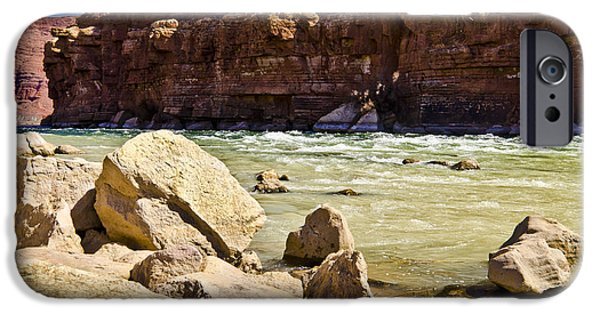 Northern Arizona iPhone Cases - Ripple in the river iPhone Case by Jon Berghoff