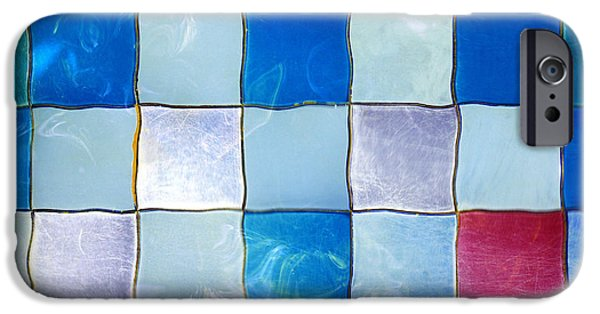 Mosaic iPhone Cases - Ripple Tiles iPhone Case by Carlos Caetano