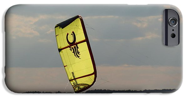 Kite Boarding iPhone Cases - Rise from the depths iPhone Case by Rrrose Pix