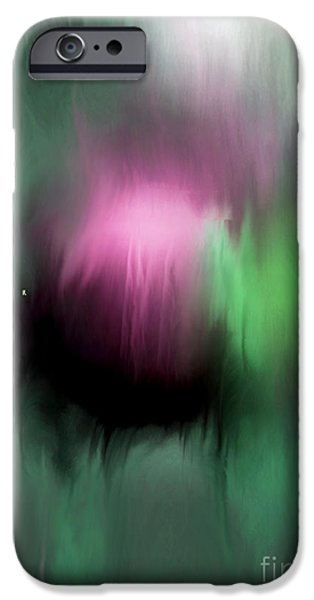 Abstract Expressionist iPhone Cases - Rising 2 iPhone Case by John Krakora