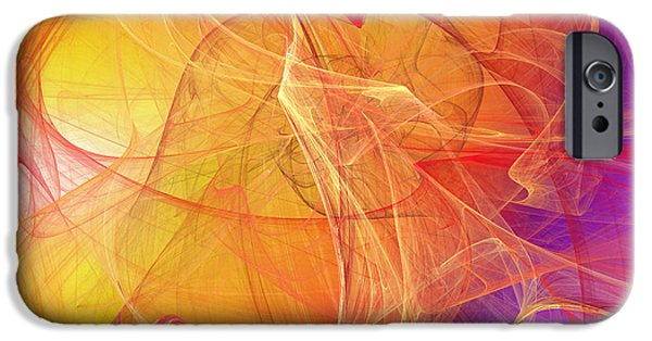 Fine Art Fractal iPhone Cases - Rising Radiance iPhone Case by Andee Design