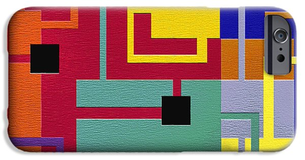 Geometrical Art iPhone Cases - Risky iPhone Case by Ely Arsha