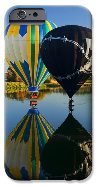 Balloon iPhone Cases - River Dance iPhone Case by Mike  Dawson