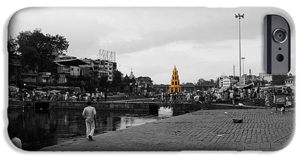 Village Pyrography iPhone Cases - River ganga in India iPhone Case by Sumit Mehndiratta