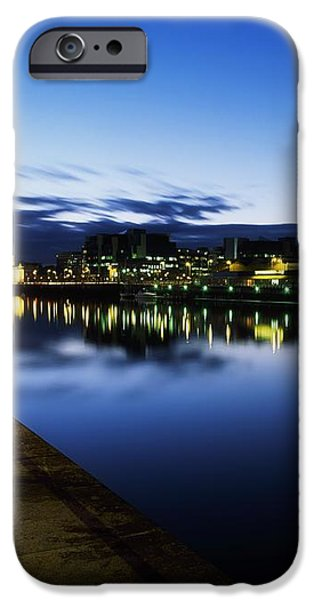River Liffey, Sunset, View Of Customs iPhone Case by The Irish Image Collection