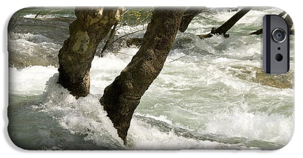 River Flooding iPhone Cases - River Manavgat In Flood iPhone Case by Bob Gibbons