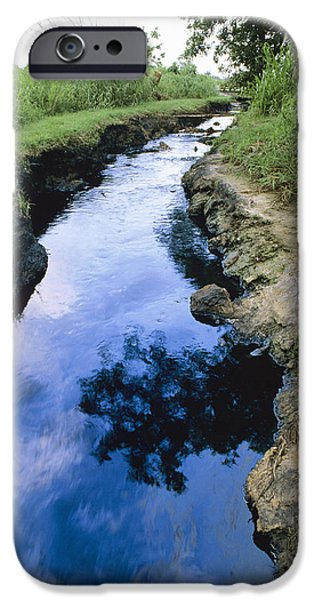 Oil Pollution iPhone Cases - River Pollution iPhone Case by David Nunuk