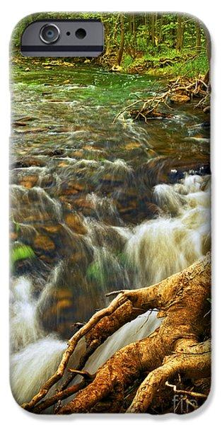 Creek iPhone Cases - River rapids iPhone Case by Elena Elisseeva