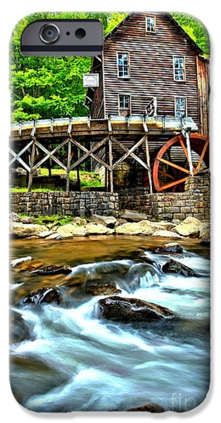 Grist Mill iPhone Cases - River Rock And A Grist Mill iPhone Case by Adam Jewell