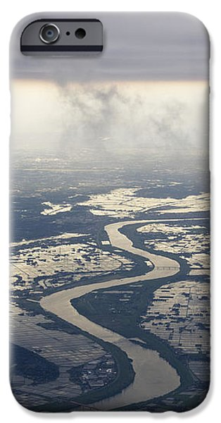 River Running through a Flooded Countryside iPhone Case by Jeremy Woodhouse