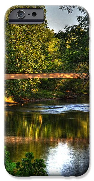 River Walk Bridge iPhone Case by Greg and Chrystal Mimbs