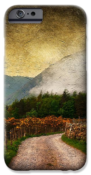 Road by the Lake iPhone Case by Svetlana Sewell