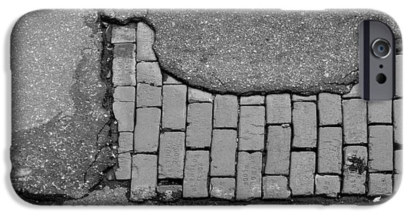 Walkway Digital iPhone Cases - Road Textures iPhone Case by Mike McGlothlen