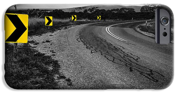 Greyscale iPhone Cases - Road to Nowhere iPhone Case by Kelly Jade King