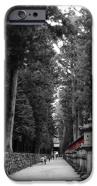 Pathway iPhone Cases - Road to the Temple iPhone Case by Naxart Studio