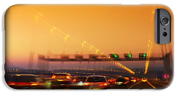 Asphalt iPhone Cases - Road Traffic iPhone Case by Carlos Caetano