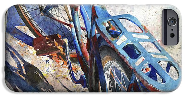 Antiques Paintings iPhone Cases - Roadmaster iPhone Case by Andrew King