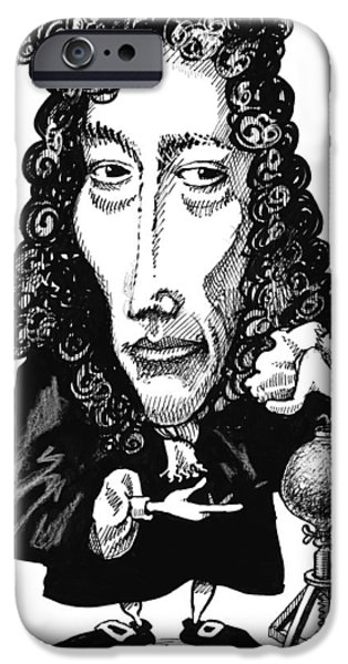 Robert Boyle, Caricature iPhone Case by Gary Brown