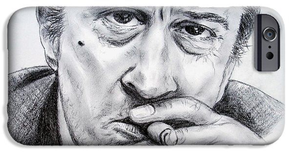 Robert De Niro Drawings iPhone Cases - Robert De Niro iPhone Case by Jim Fitzpatrick