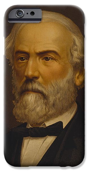 Warishellstore Paintings iPhone Cases - Robert E Lee iPhone Case by War Is Hell Store