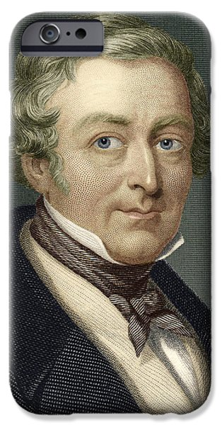 Pm iPhone Cases - Robert Peel, British Prime Minister iPhone Case by Sheila Terry