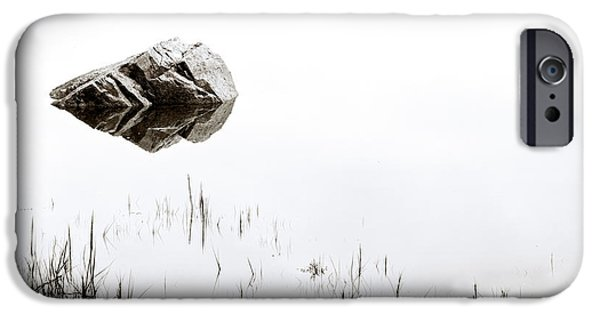 Ponds iPhone Cases - Rock in the Water iPhone Case by Steve Gadomski