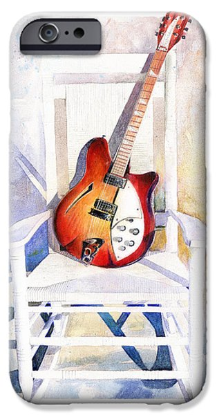 Chair Paintings iPhone Cases - Rock On iPhone Case by Andrew King