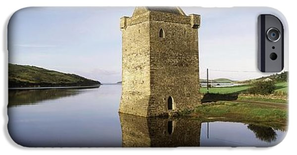 Historic Site iPhone Cases - Rockfleet Castle, Clew Bay, Co Mayo iPhone Case by The Irish Image Collection