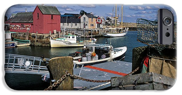Lobster Shack iPhone Cases - Rockport - FM000070 iPhone Case by Daniel Dempster