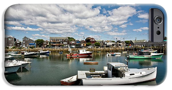 Rockport Ma iPhone Cases - Rockport Boats iPhone Case by Warren Carrington