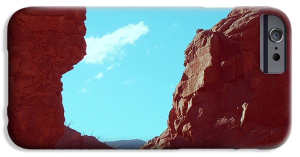 Outdoors iPhone Cases - Rocks and Sky iPhone Case by Naxart Studio