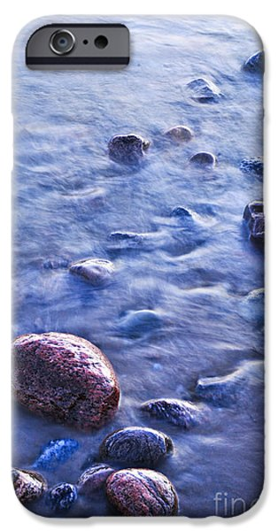 Submerged iPhone Cases - Rocks in water iPhone Case by Elena Elisseeva