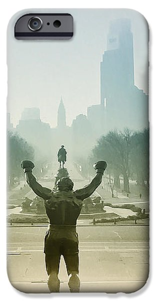 Rocky at the Top of the Steps iPhone Case by Bill Cannon