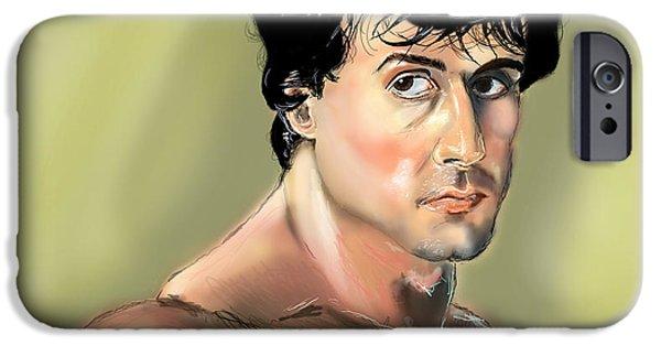 Stallone Digital Art iPhone Cases - Rocky Balboa iPhone Case by Vinny John Usuriello