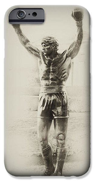 Best Sellers -  - Boxer Digital Art iPhone Cases - Rocky iPhone Case by Bill Cannon