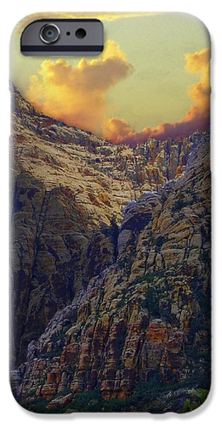 Red Rock Mixed Media iPhone Cases - Rocky Canyon iPhone Case by Maria Eames