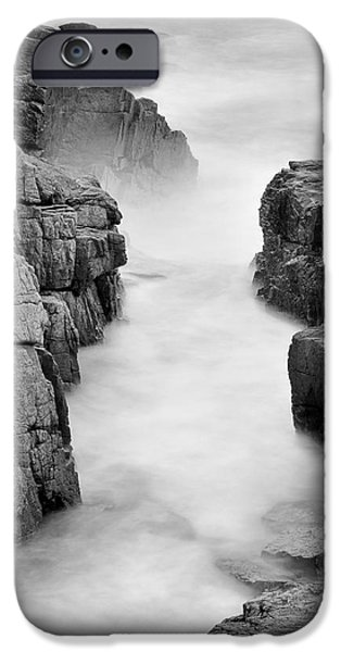 Maine Beach iPhone Cases - Rocky Coast of Acadia - No 2  iPhone Case by Thomas Schoeller