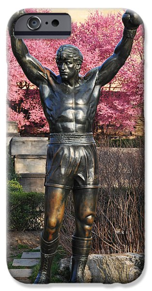 Stallone Digital Art iPhone Cases - Rocky In Spring iPhone Case by Bill Cannon