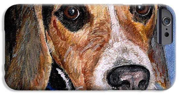 Dogs iPhone Cases - Rocky iPhone Case by Mary-Lee Sanders