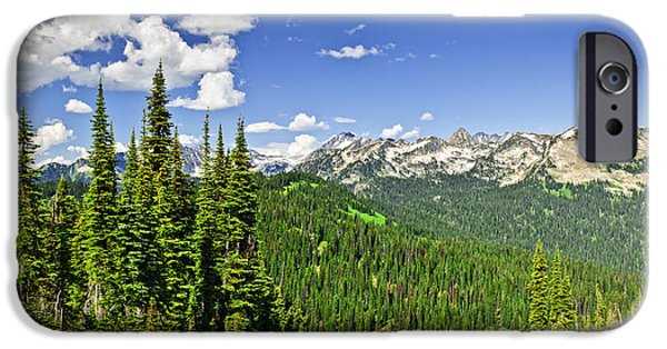 Rockies iPhone Cases - Rocky mountain view from Mount Revelstoke iPhone Case by Elena Elisseeva