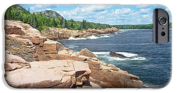 Maine iPhone Cases - Rocky Summer Seascape Acadia National Park Photograph iPhone Case by Keith Webber Jr