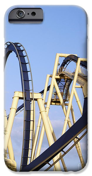 Business iPhone Cases - Roller Coaster Track iPhone Case by Skip Nall